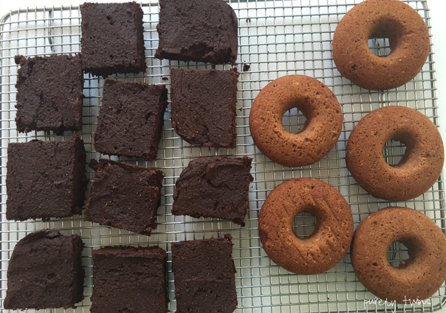 donuts and brownies from cookbook
