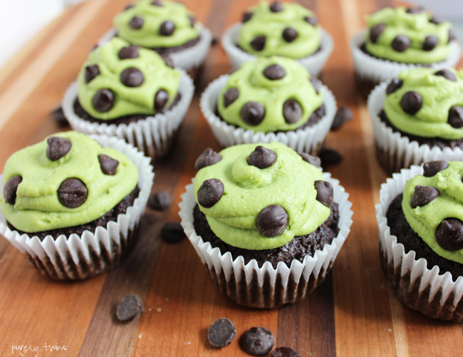 mint chocolate chip cupcakes (with tigernut  flour)