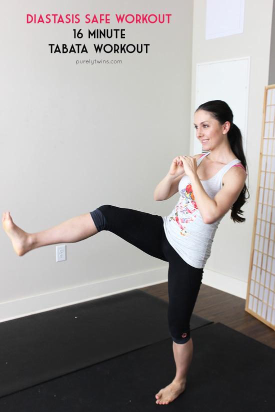 16 minute tabata diastasis recti safe workout for post partum moms