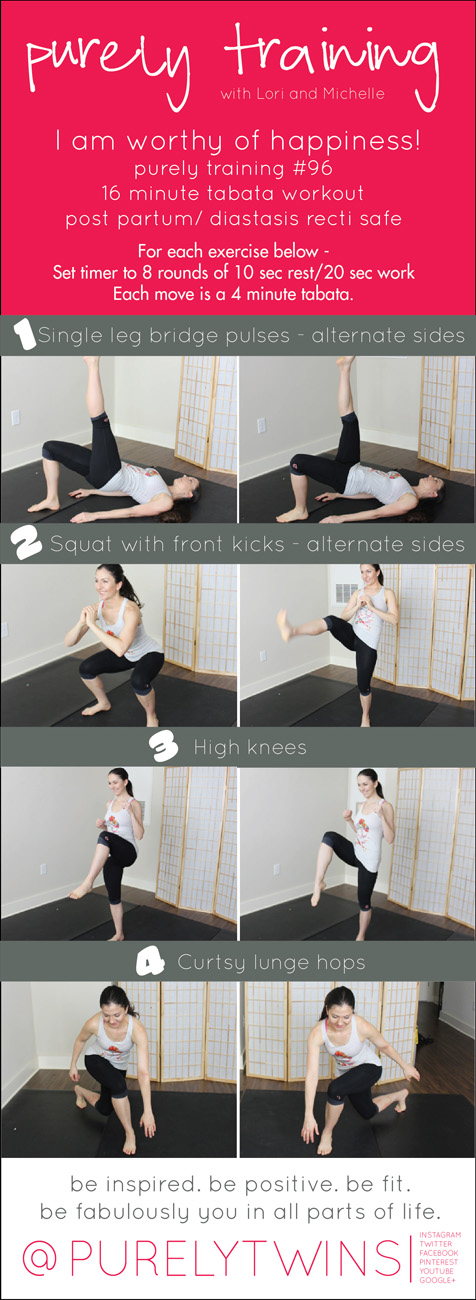 16 minute tabata workout that works the lower body