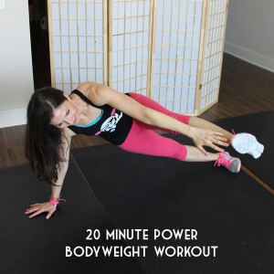 20 minute power bodyweight home workout. Workout for moms and busy working ladies.