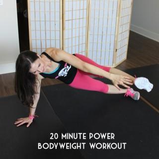 20 minute core and leg bodyweight workout