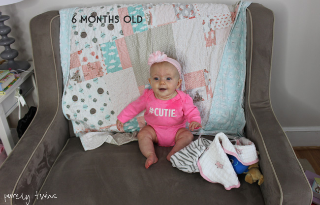 6 month old baby update mommy blogger sharing her story as new mom purelytwins.com