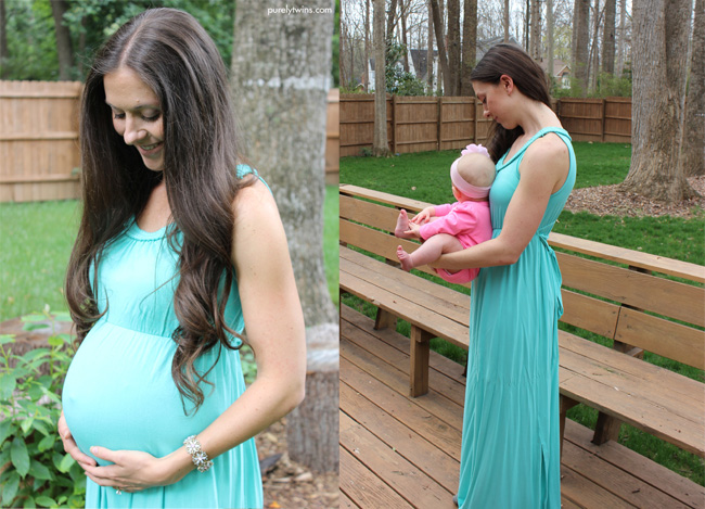 before and after baby bump to now baby girl 6 months old, new mom life blogger purelytwins.com
