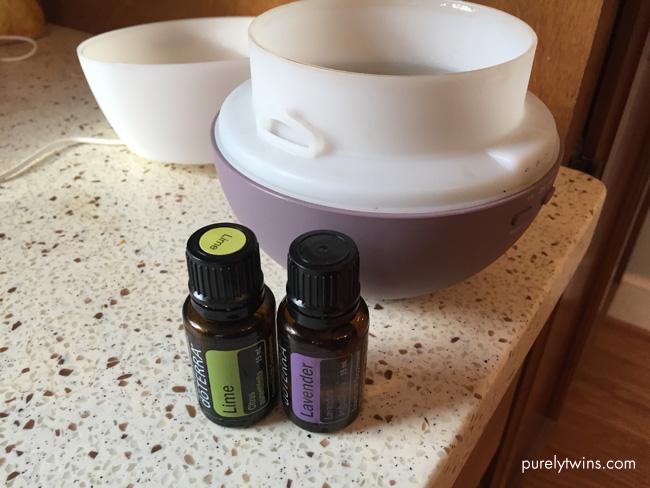diffusing-lime-lavendar-doterra-oils