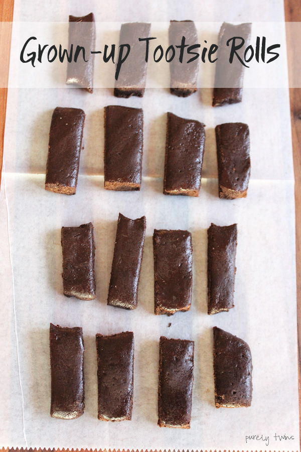 dairy-free grain-free real food tootsie roll recipe using raw cacao and protein powder