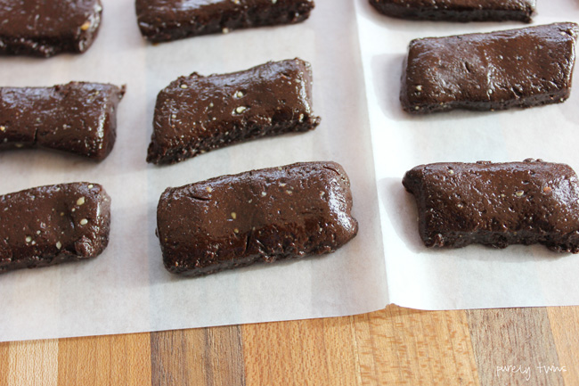 grown-up dark chocolate tootsie rolls