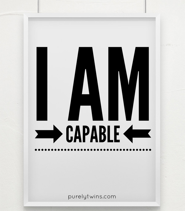 I am capable mantra positive affirmation