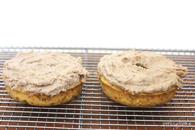 3 ingredient baked donut for two (grain-free, egg-free, sugar-free)
