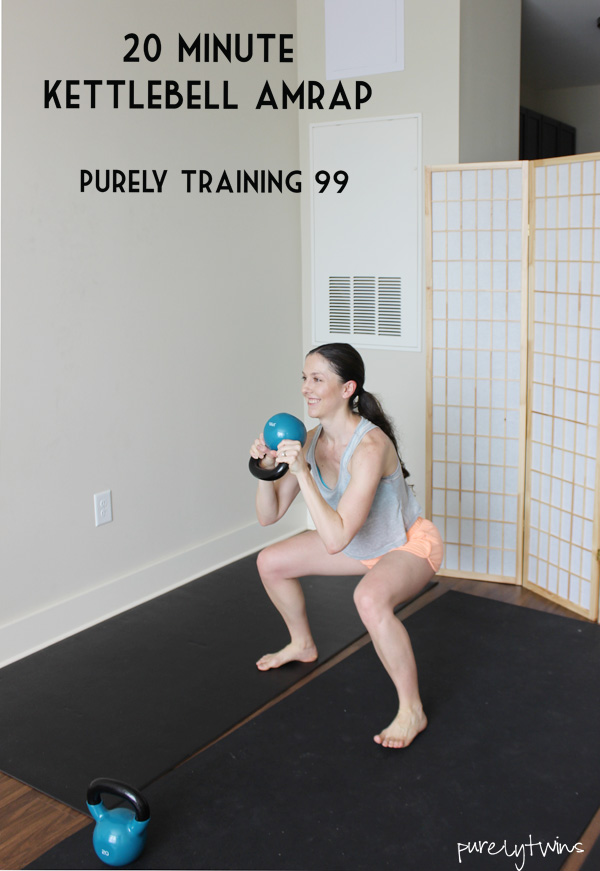 20 minute amrap workout using kettlebells you can do at home.