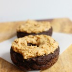 5 ingredient chocolate peanut butter plantain donuts