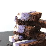 Chocolate chip cookie dough blueberry fudge flourless brownies