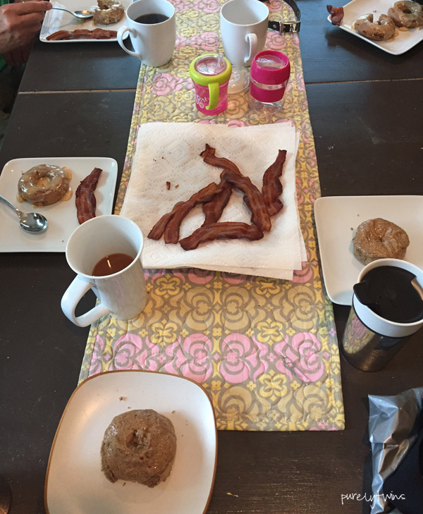 family-breakfast-donuts-and-bacon