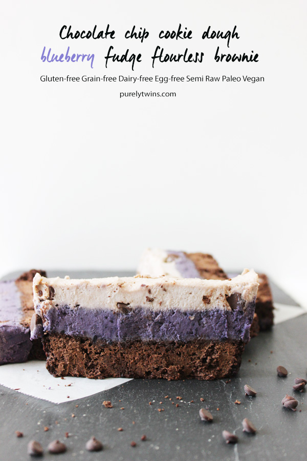 flourless-vegan-cookie-dough-fudge-brownie-bar