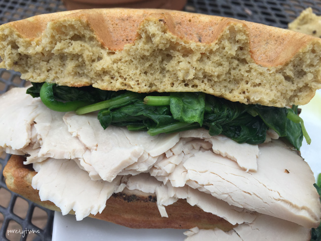 plantain-turkey-spinach-sandwich