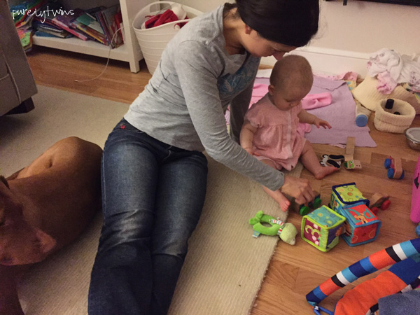 Madison playing with her aunt