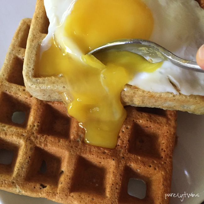 runny-egg-yolk-on-top-ofwaffles