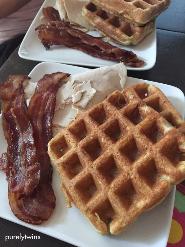 bacon-turkey-plantain-waffles-healthy-food-purelytwins