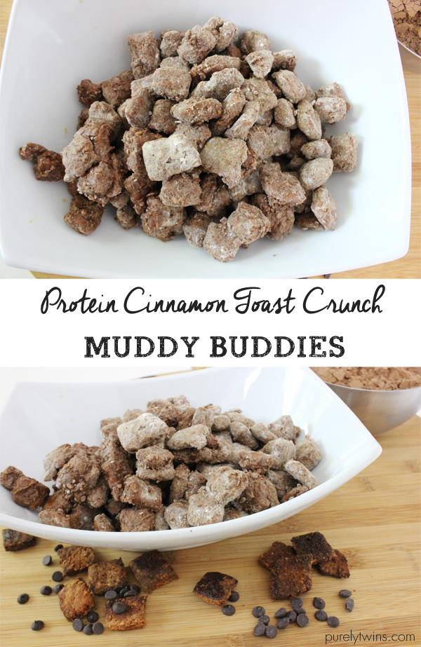 Skinny protein cinnamon toast crunch recipe for puppy chow. A healthy snack. |purelytwins.com