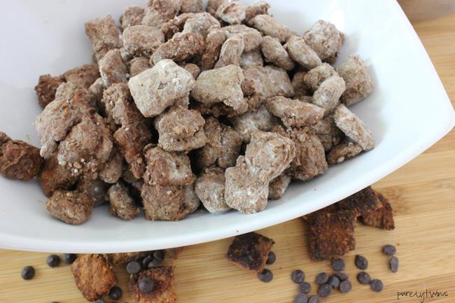 protein cinnamon toast crunch cereal muddy buddies (gluten-free, grain-free, vegan, paleo friendly)