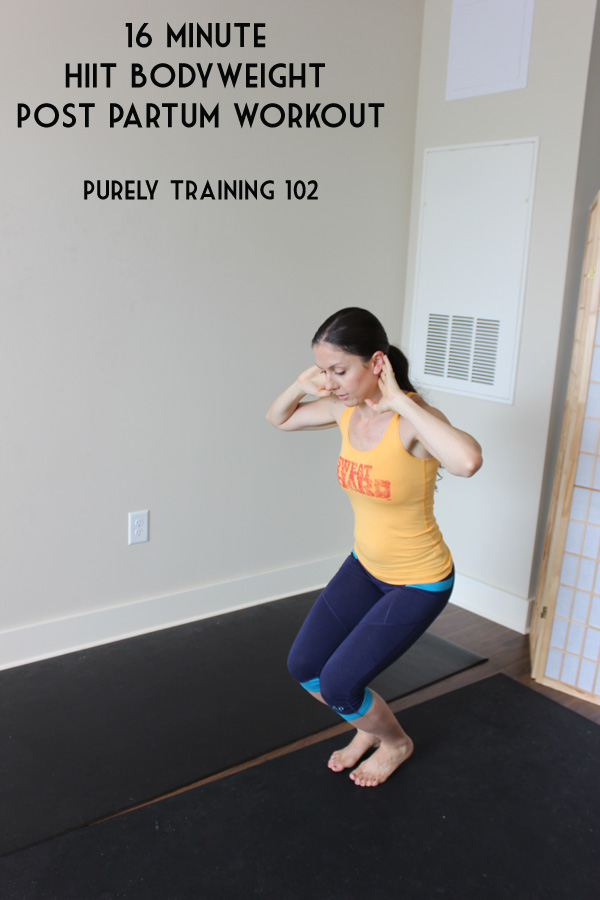 16 minute HIIT workout that is safe for post partum and diastasis recti #postpartumfitness #fitmoms #diastasis | purelytwins.com