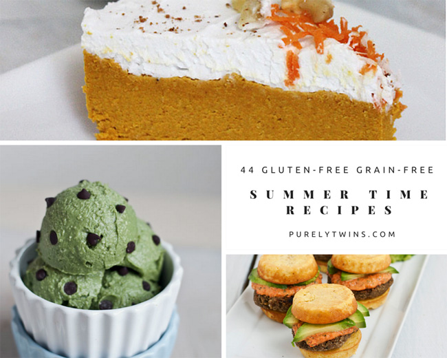 44 summer time recipes | purelytwins.com #glutenfree #grainfree #lowsugar