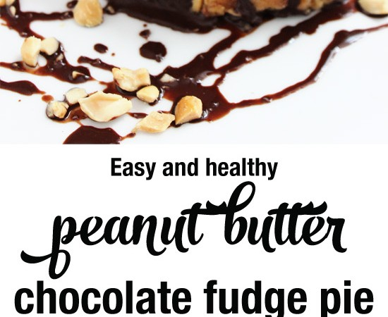Easy healthy peanut butter fudge chocolate pie made from real ingredients. #glutenfree #grainfree #dairyfree #lowsugar | purelytwins.com