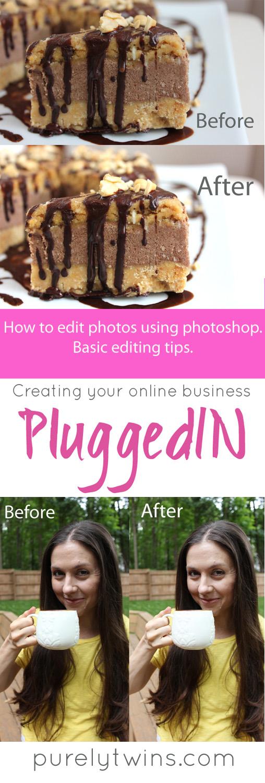 How to do basic photo edits using photoshop. #photography #blogging