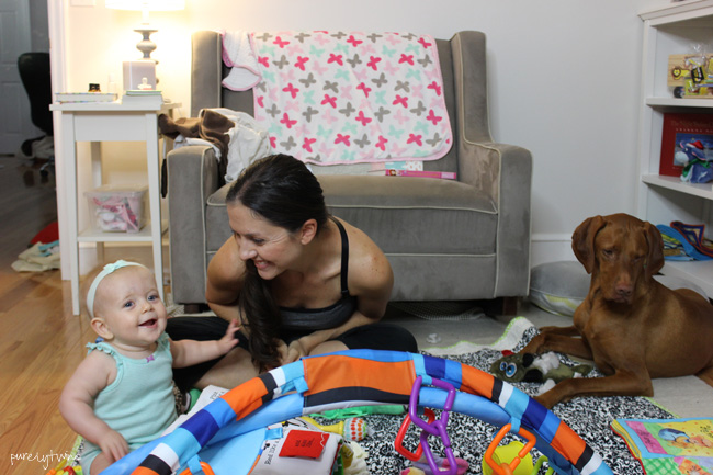 my life as a new mom with a vizsla and 9 month old baby girl. What life is like as a new mom. ||purelytwins