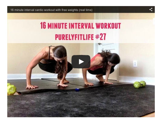 16 minute workout