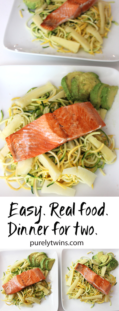 Easy healthy real food dinner that serves 2 with sizzlefish easy real food dinner that is made in under 15 minutes salmon veggie pasta with forumfinder