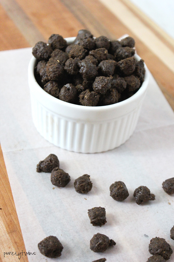 Protein packed gluten-free dairy-free chocolate covered thin mint cocoa puffs cereal