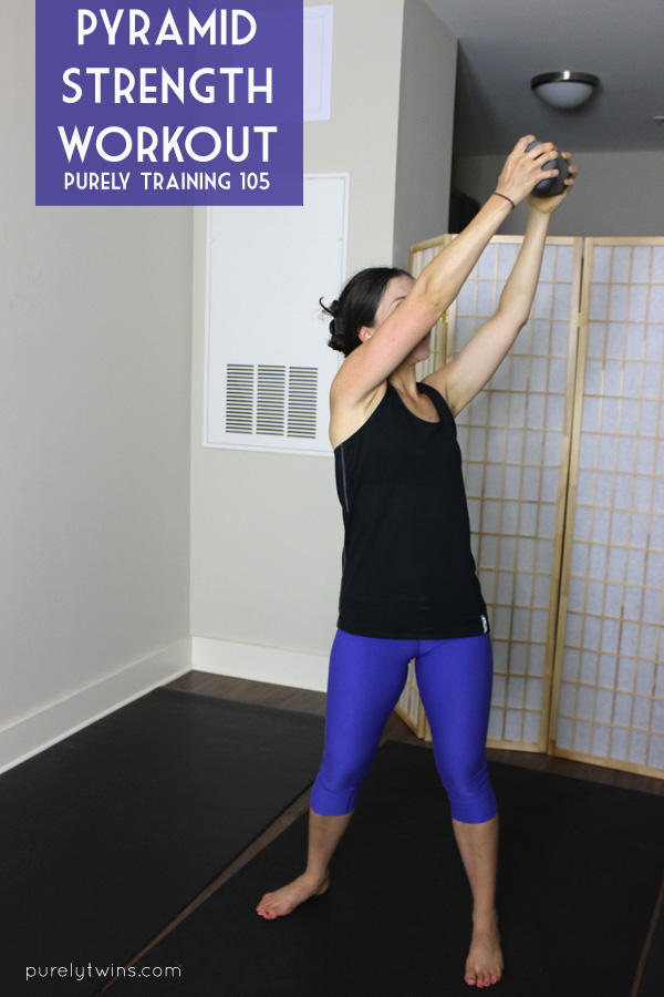 Pyramid circuit workout you can do at home to build strength. Time challenge workout. | purelytwins.com