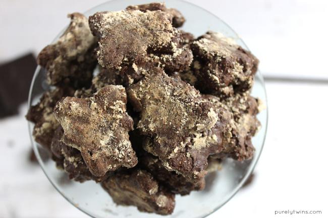 Protein chocolate tahini teddy graham muddy buddies