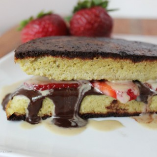 Strawberry chocolate tahini melt