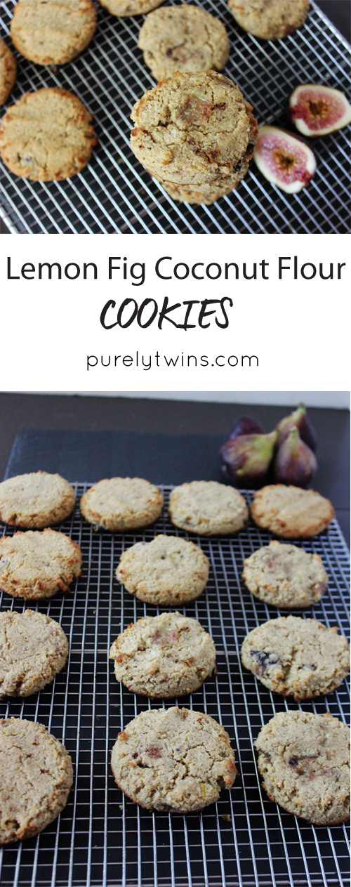 Secretly healthy grain-free gluten-free dairy-free lemon fig cookies that are soft and delicious perfect back-to-school treat || purelytwins.com