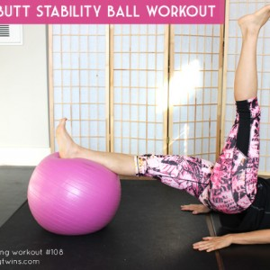 Core and butt stability ball workout. 16 minute home workouts. Post partum workout.