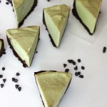No bake grasshopper cheesecake pie