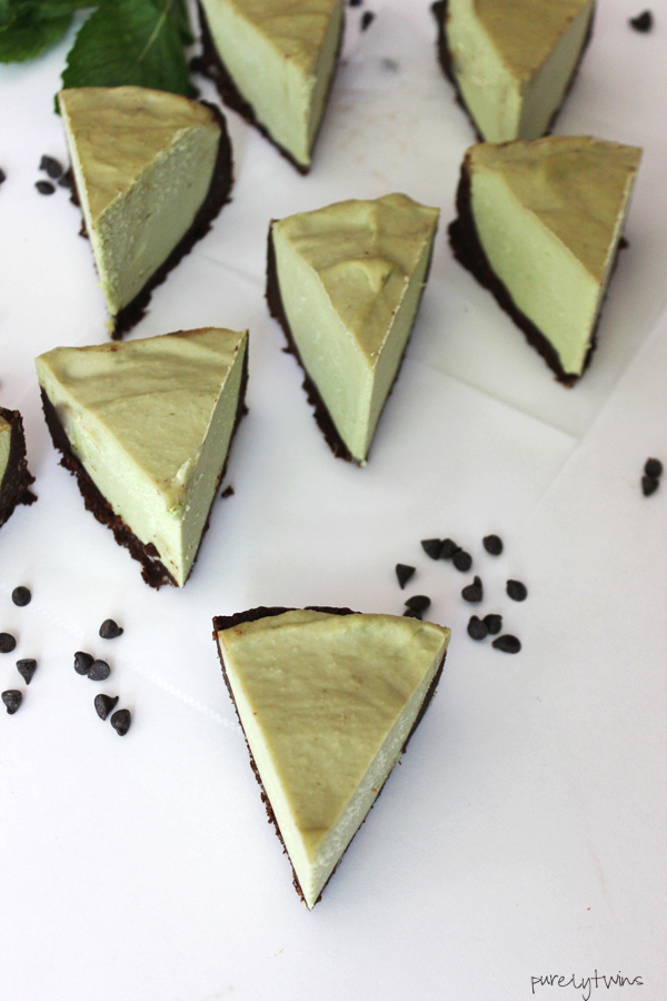 No bake coconut cream avocado chocolate mint avocado cheesecake recipe. Raw. Paleo.