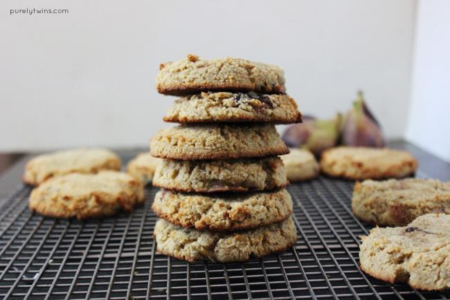 Soft lemon fig grain-free cookies