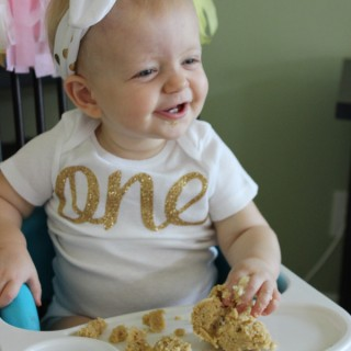 Celebrating Madison's first birthday party