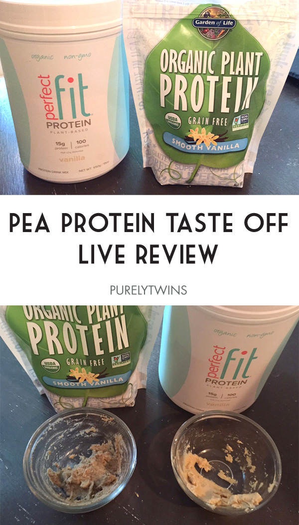 Pea protein taste off. Garden of life or Perfect fit which plant based protein is best. | purelytwins.com