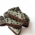 No bake mint brownie cookie dough pie