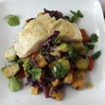 Paleo sablefish and plantain curry dinner.