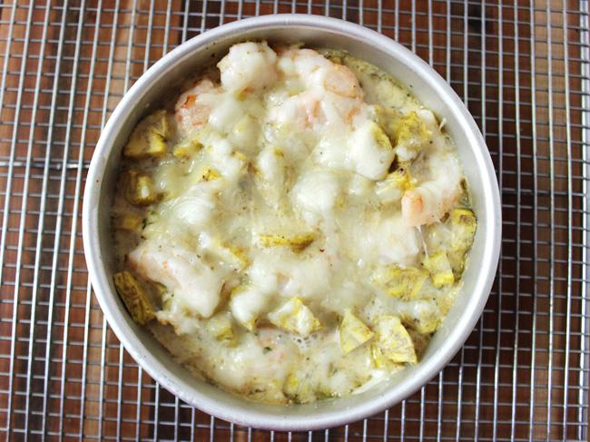 Plantain shrimp mac-n-cheese dinner recipe (gluten and grain free)