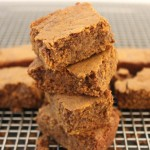 Flourless pumpkin protein brownies made two ways! Paleo. Vegan.