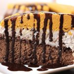 Pumpkin fudge cookie dough plantain chocolate cake