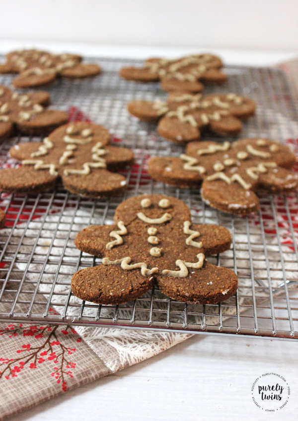 Gingerbread Man Cookies With Sugar Free Protein Frosting