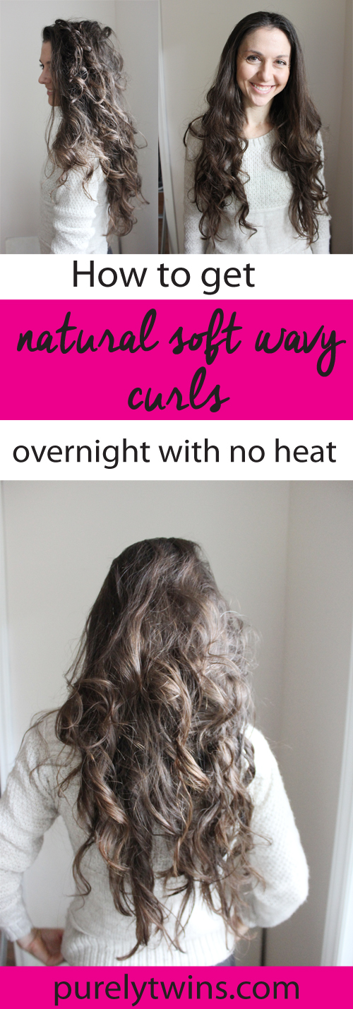 How to curl your hair with no heat or curling iron. The easiest way to get natural looking curls.