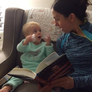michelle-reading-the-school-of-greatness-to-Madison-before-bedtime-purelytwins